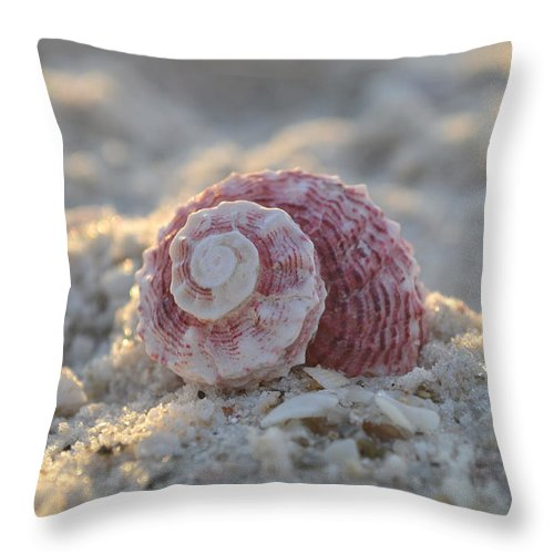 Seashell Throw Pillow featuring the photograph A Gentle Strength by Melanie Moraga