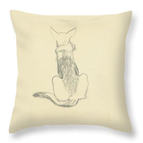 A German Shepherd Throw Pillow
