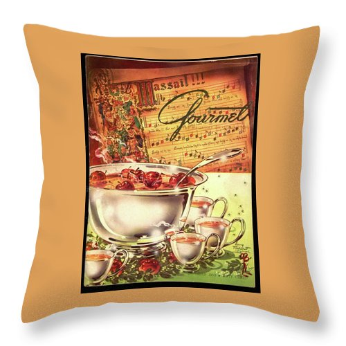 Illustration Throw Pillow featuring the photograph A Gourmet Cover Of Apples by Henry Stahlhut