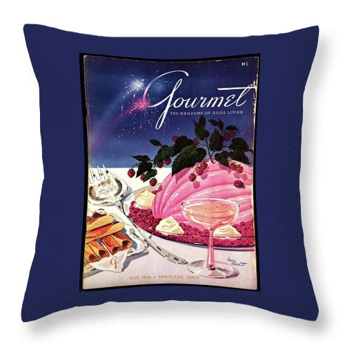 Illustration Throw Pillow featuring the photograph A Gourmet Cover Of Mousse by Henry Stahlhut