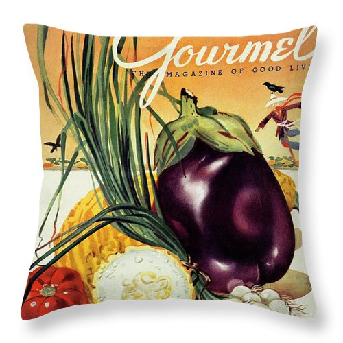 Food Throw Pillow featuring the photograph A Gourmet Cover Of Vegetables by Henry Stahlhut