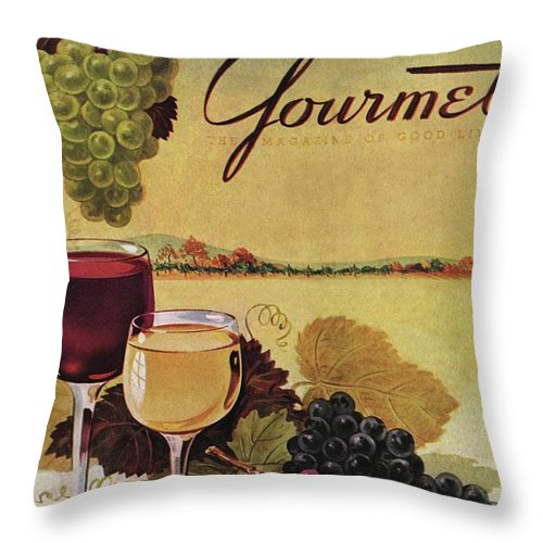 Exterior Throw Pillow featuring the photograph A Gourmet Cover Of Wine by Henry Stahlhut