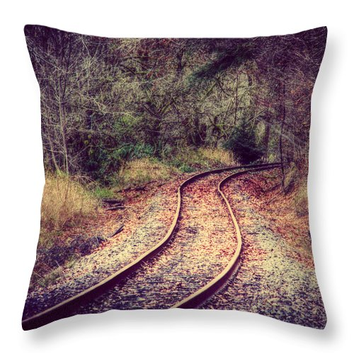 Railroad Throw Pillow featuring the photograph A Journey Of Dreams by Melanie Lankford Photography