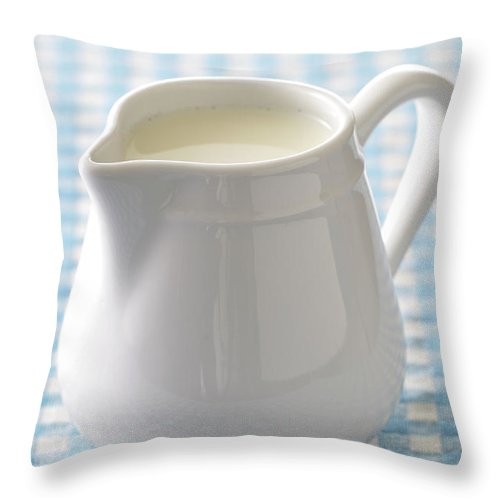 Single Object Throw Pillow featuring the photograph A Jug Of Cream by Riou