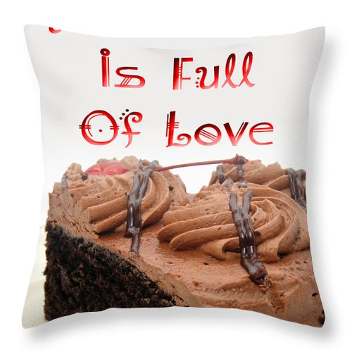 Dessert Throw Pillow featuring the digital art A Kitchen Is Full Of Love 4 by Andee Design