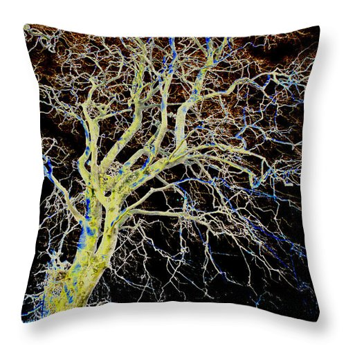 Macro Throw Pillow featuring the photograph Reaching Out by Dave Byrne