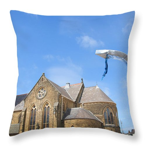 Blackpool Tower Throw Pillow featuring the photograph A Leap Of Faith by Brenda Kean