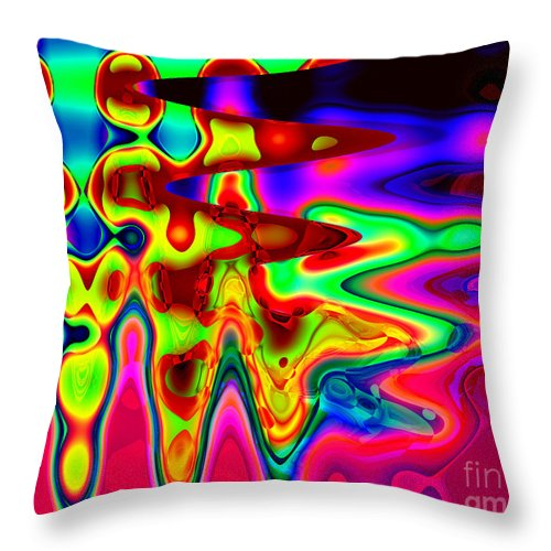A Little Levity Throw Pillow featuring the digital art A Little Levity by Kristi Kruse
