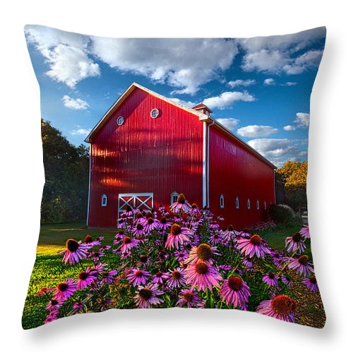 Sunrise Throw Pillow featuring the photograph A Little More Country by Phil Koch