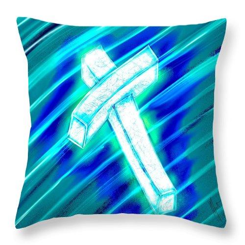 Prayer Throw Pillow featuring the digital art A Little Prayer by Mathieu Lalonde