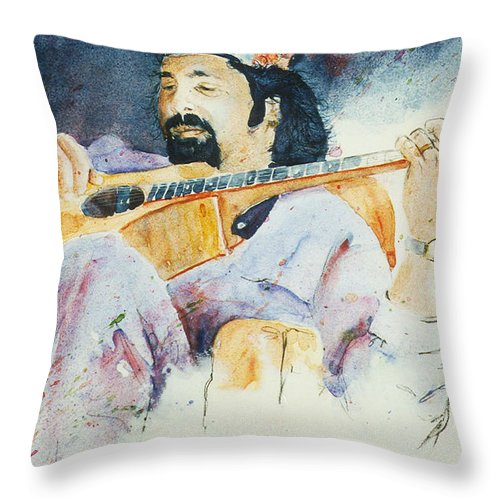 Tom Prasada Rao Throw Pillow featuring the painting A Little Warm Up by John Dougan