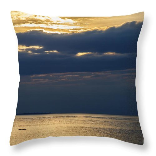 Dramatic Throw Pillow featuring the photograph A Moray Firth Sunset by Diane Macdonald