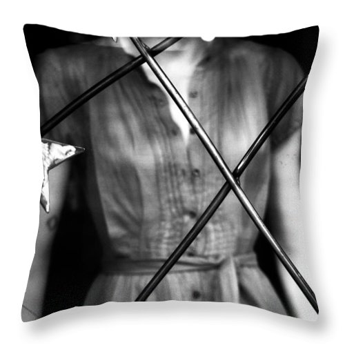 Black And White Throw Pillow featuring the photograph A Ordinary Star by The Artist Project