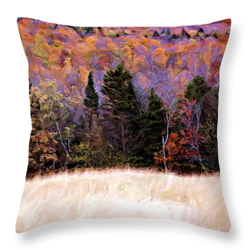 Painting Throw Pillow featuring the photograph A Painting Autumn Field by Mike Nellums