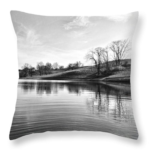 Landscape Throw Pillow featuring the photograph A Peacefull Place by Brenda Hackett