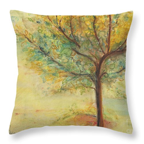 International Art Collectors Throw Pillow featuring the painting A Poem Lovely As A Tree by Helena Bebirian