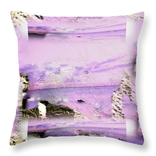 Marco Reynolds Throw Pillow featuring the digital art A Poets Expression by Marco Reynolds