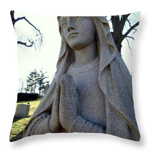 Statue Throw Pillow featuring the photograph A Prayer by Ed Weidman