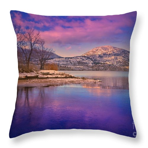 Lake Throw Pillow featuring the photograph A Purple Surrender by Tara Turner