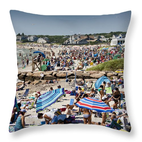 Beach Throw Pillow featuring the photograph A Quiet Day At The Beach by Dennis Coates