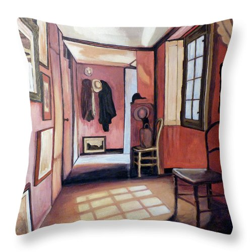 Tom Roderick Throw Pillow featuring the painting A Quiet Place by Tom Roderick