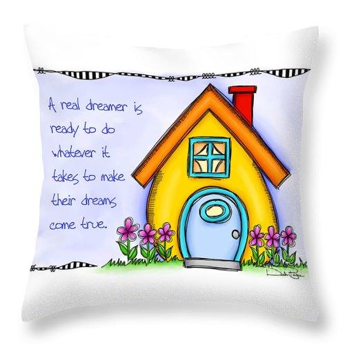 Dream Throw Pillow featuring the digital art A Real Dreamer by Debi Payne