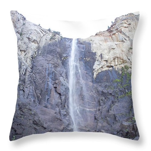 Falls Throw Pillow featuring the photograph A Rock Face by Brian Williamson