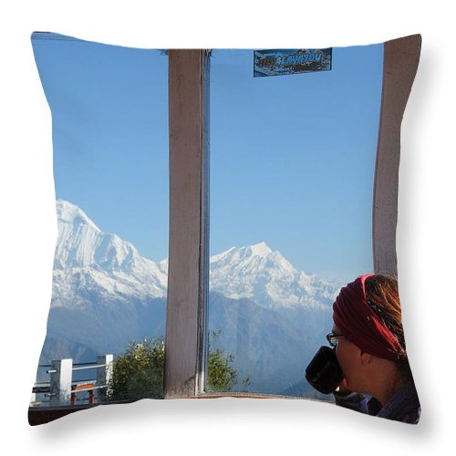 Room Throw Pillow featuring the photograph A Room With A View by Colin Woods