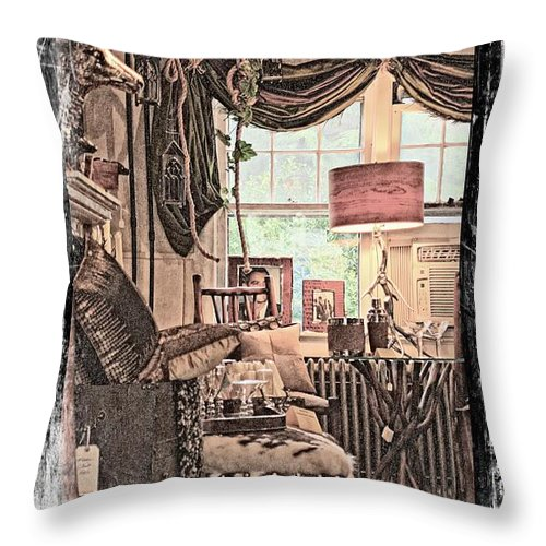 Marcia Lee Jones Throw Pillow featuring the photograph A Room With An Invitation by Marcia Lee Jones