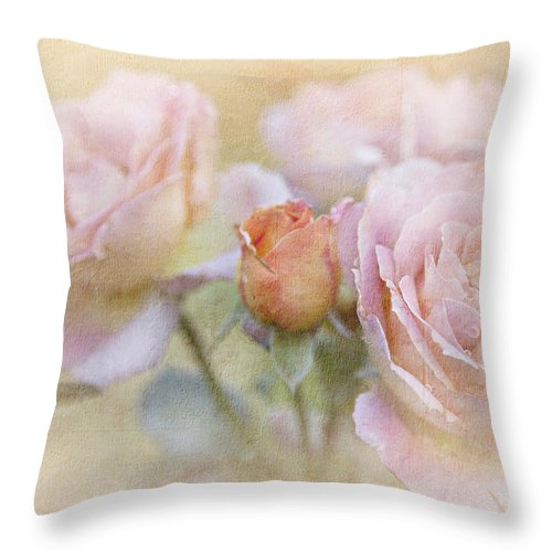 Blossoms Throw Pillow featuring the photograph A Rose By Any Other Name by Theresa Tahara