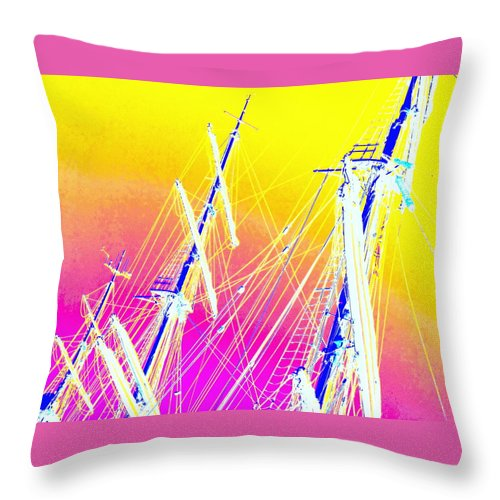 Sail Throw Pillow featuring the photograph They Are Such A Skinny Couple by Hilde Widerberg