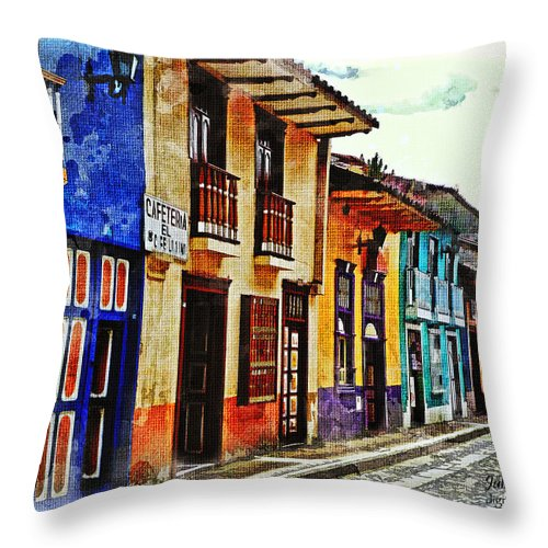 Julia Springer Throw Pillow featuring the photograph A Splash Of Color by Julia Springer