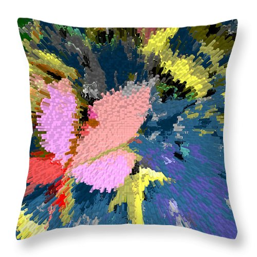 Abstract Throw Pillow featuring the digital art A Splash Of Fall by John Lautermilch