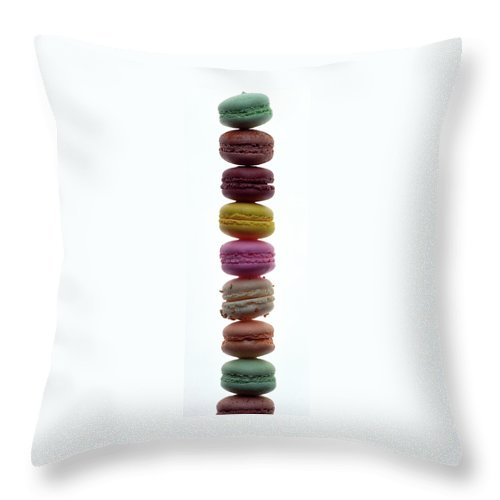 A Stack Of Macaroons Throw Pillow