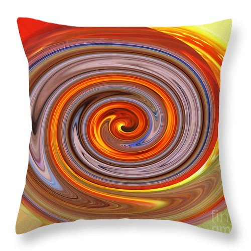Jim Fitzpatrick Throw Pillow featuring the digital art A Swirl Of Colors From The Sun And Earth by Jim Fitzpatrick