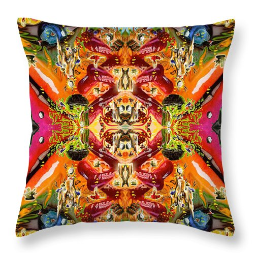 Lips Throw Pillow featuring the photograph A Tasty Wall Of Healing by Deprise Brescia