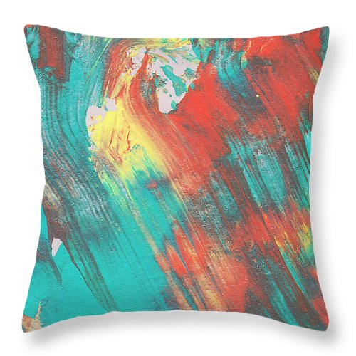 Abstract Throw Pillow featuring the painting A Train To Wherever by Maura Satchell