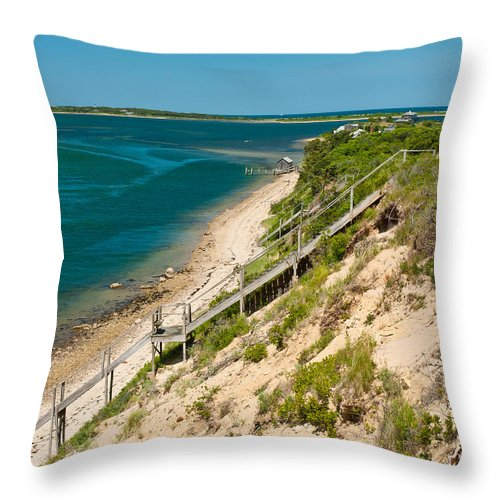 Chappaquiddick Throw Pillow featuring the photograph A View From Chappaquiddick Island Marthas Vineyard Massachusetts by Michelle Constantine