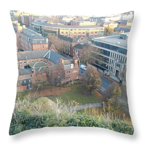 Nottingham Throw Pillow featuring the photograph A View Of Nottingham by James Potts