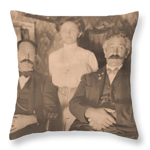 Throw Pillow featuring the photograph A Vintage Photo Of People by Cathy Anderson