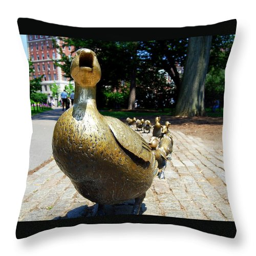 Boston Throw Pillow featuring the photograph A Walk In The Park I I by Caroline Stella