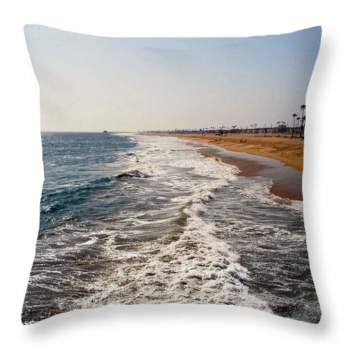 Beach Throw Pillow featuring the photograph A Walk On The Beach by Carolyn Stagger Cokley