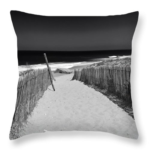 Path Throw Pillow featuring the photograph A Walk To The Sea by Mountain Dreams