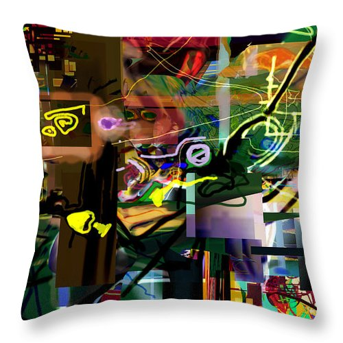 Throw Pillow featuring the digital art A Way To Bring The World To Tsheuvah 14 by David Baruch Wolk