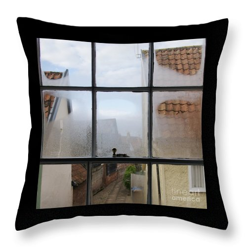 Window Throw Pillow featuring the photograph A Wee Bit Chilly by Ann Horn