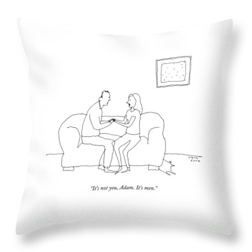 A Woman Says To A Man Throw Pillow