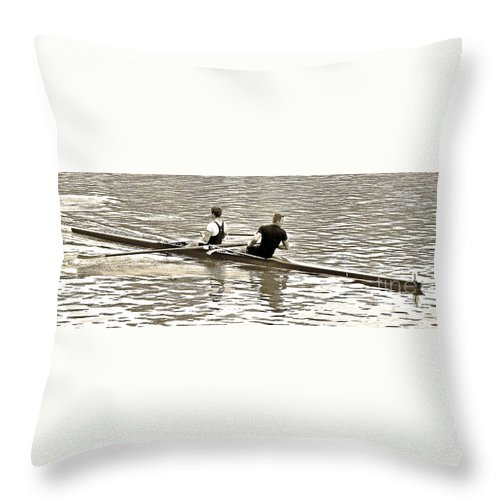 Digital Abstract Photography Throw Pillow featuring the photograph A2230006 Regatta by David Fabian
