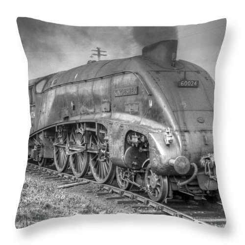 A4 Throw Pillow featuring the photograph A4 Class 60024 Kingfisher by David Birchall