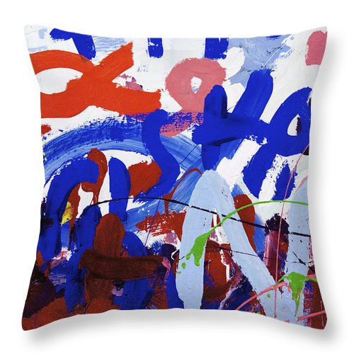 Water Paint White Throw Pillow featuring the photograph Aa Hope by Richard J Cassato