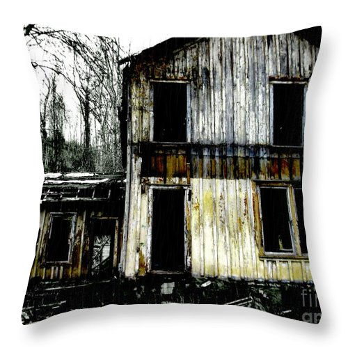 Abandoned Throw Pillow featuring the photograph Abandoned by Amy Sorrell